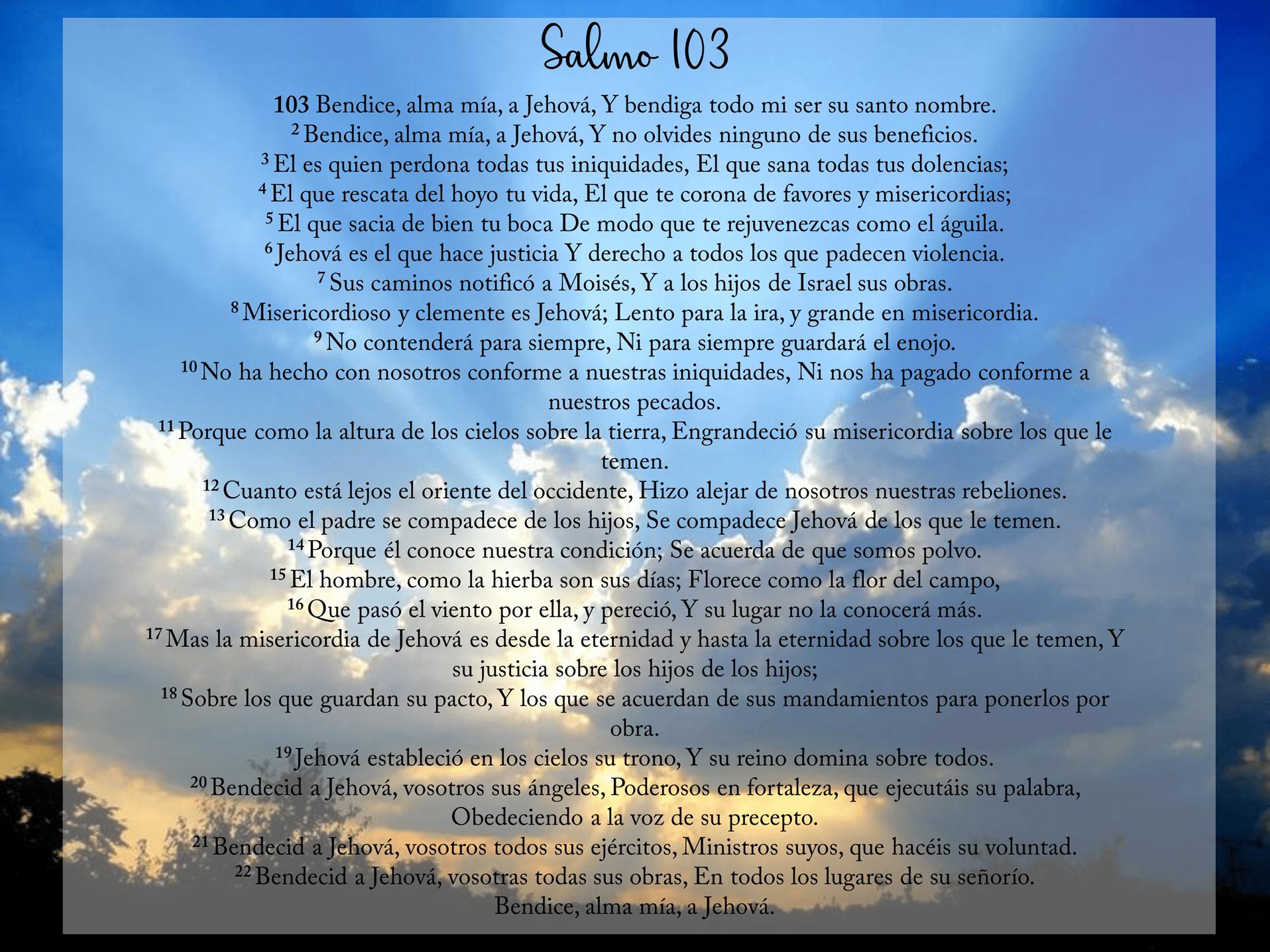 Salmo 103: explicación del pasaje bíblico, esbiblia