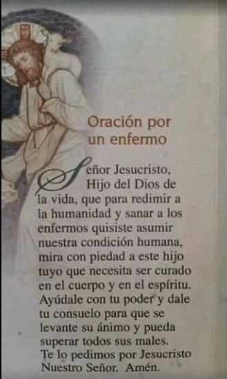 Oración por los enfermos, esbiblia