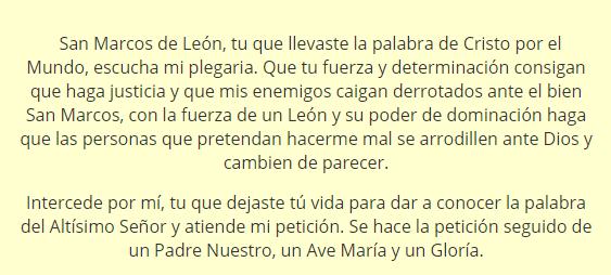 Oración a San Marcos de León, esbiblia
