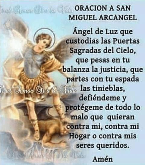 Oración a San Miguel Arcángel, esbiblia