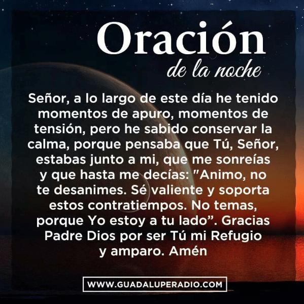 Oración de la noche, esbiblia