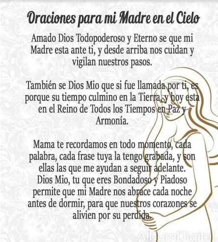 Oración a una madre difunta, esbiblia