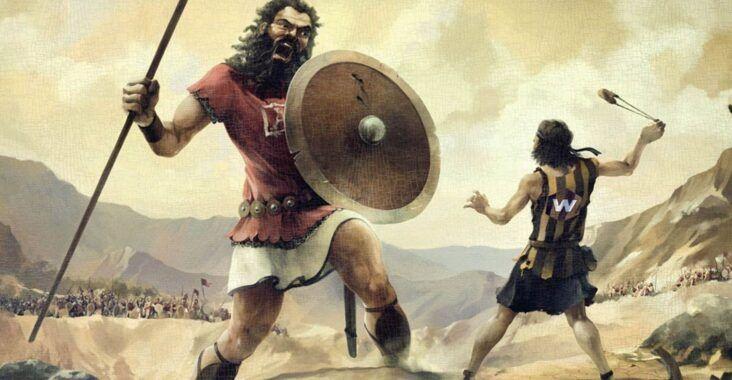 Historia de David y Goliat en la Biblia, esbiblia