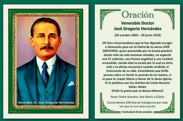 Oración a José Gregorio Hernández, esbiblia
