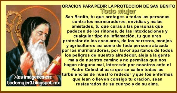 Oración a San Benito, esbiblia