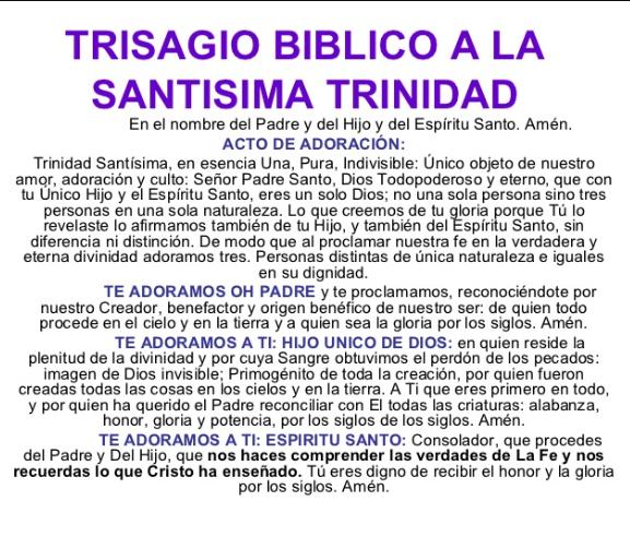 Oración a la Santísima Trinidad, esbiblia