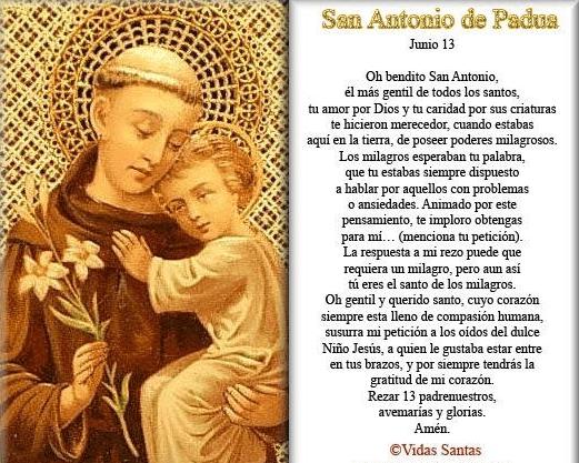 Oración A San Antonio De Padua Esbiblia