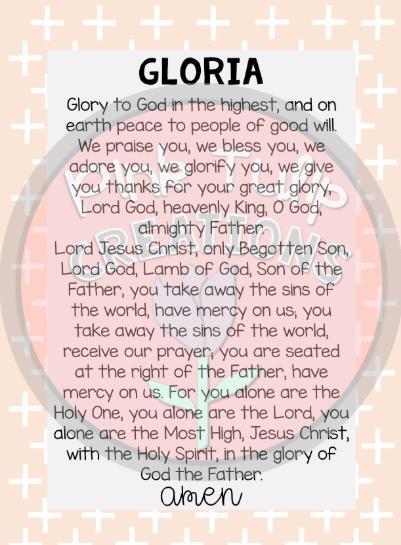 Oración sobre El Gloria, esbiblia