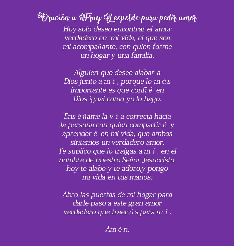 Oración a Fray Leopoldo, esbiblia