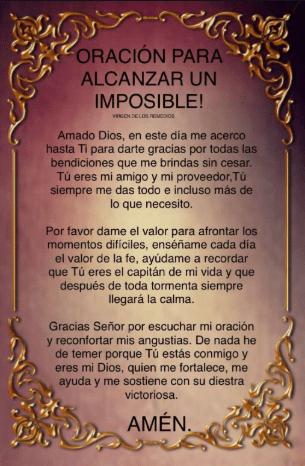 Oración para pedir un milagro, esbiblia