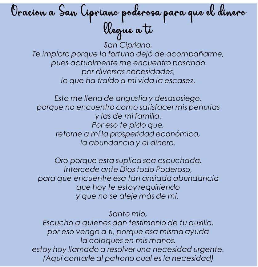 Oración a San Cipriano, esbiblia