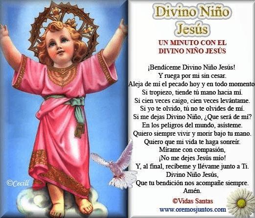 Oración al Divino Niño Jesús, esbiblia